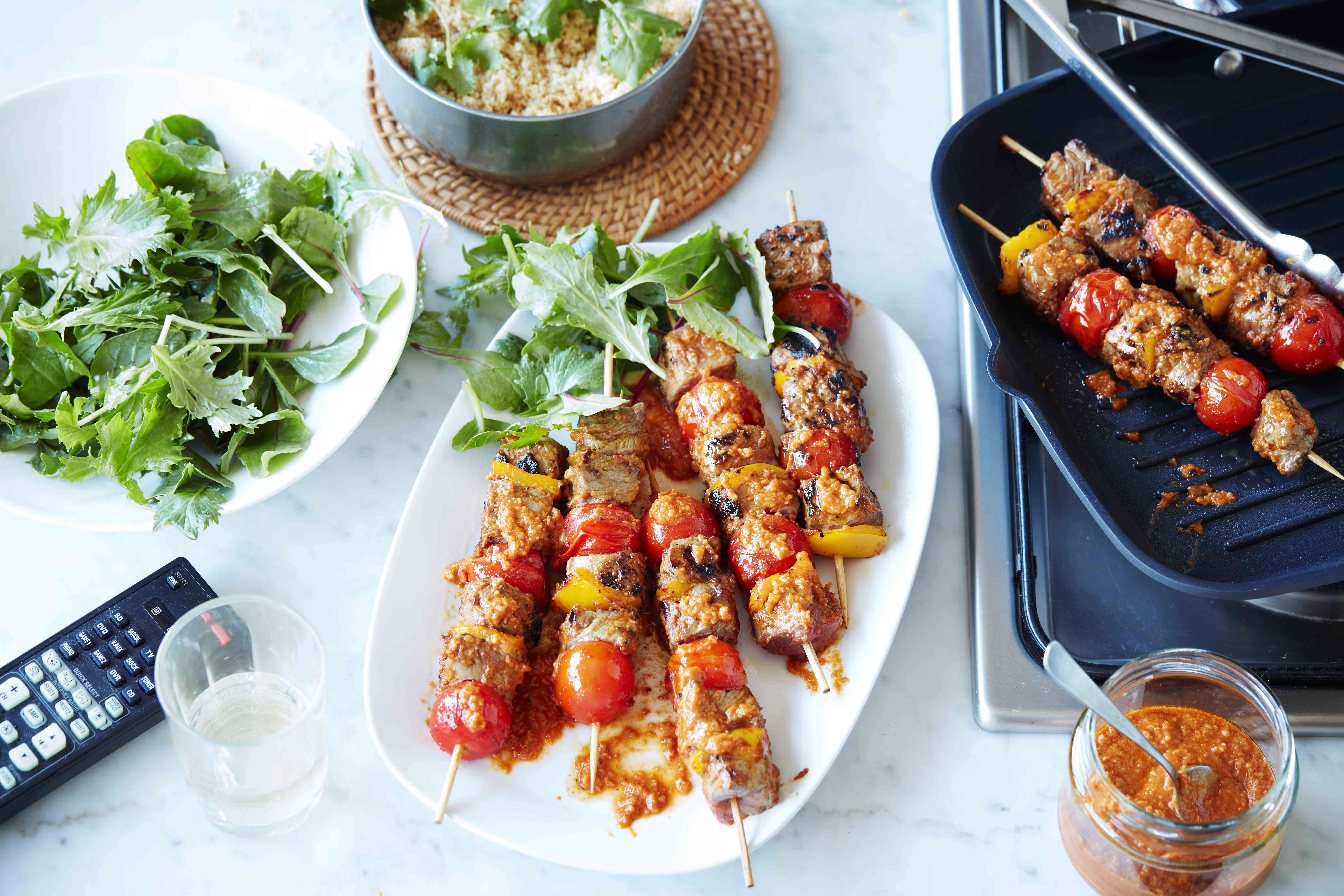 BEEF SATAY SKEWERS WITH COUSCOUS