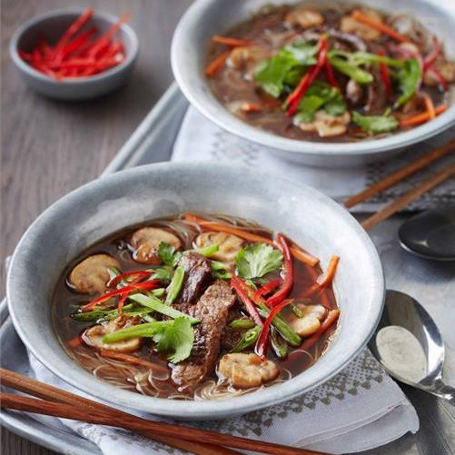 HOT AND SOUR BEEF NOODLE SOUP