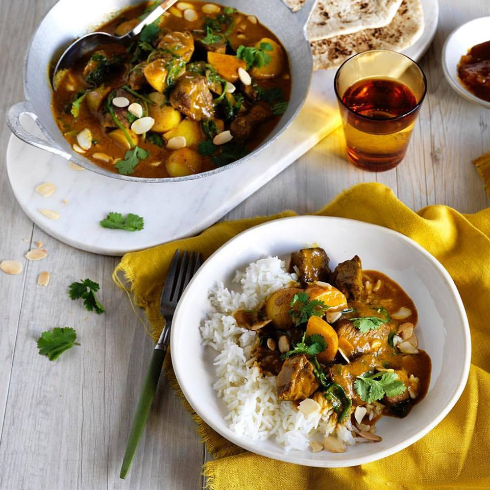 LAMB POTATO AND SPINACH CURRY